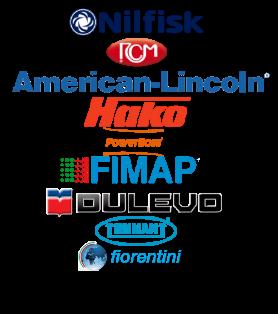 Reparación de barredoras de las marcas Nilfisk, RCM, American Lincoln, Hako, Powerboss, Fimap, Dulevo, Tennant Fiorentini